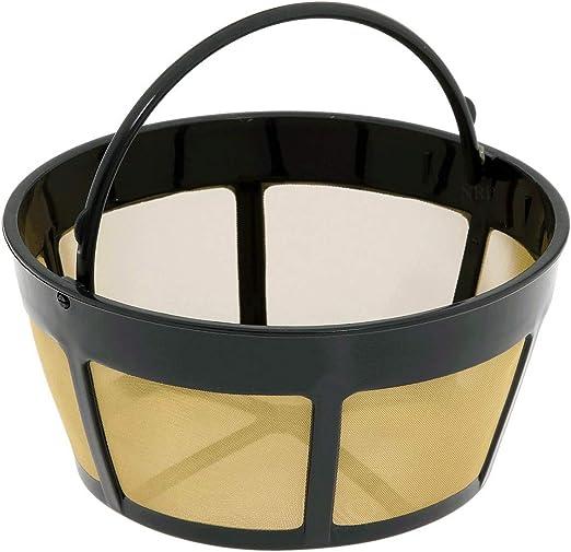 NRP Basket filtro permanente de café de tono dorado universal para ...