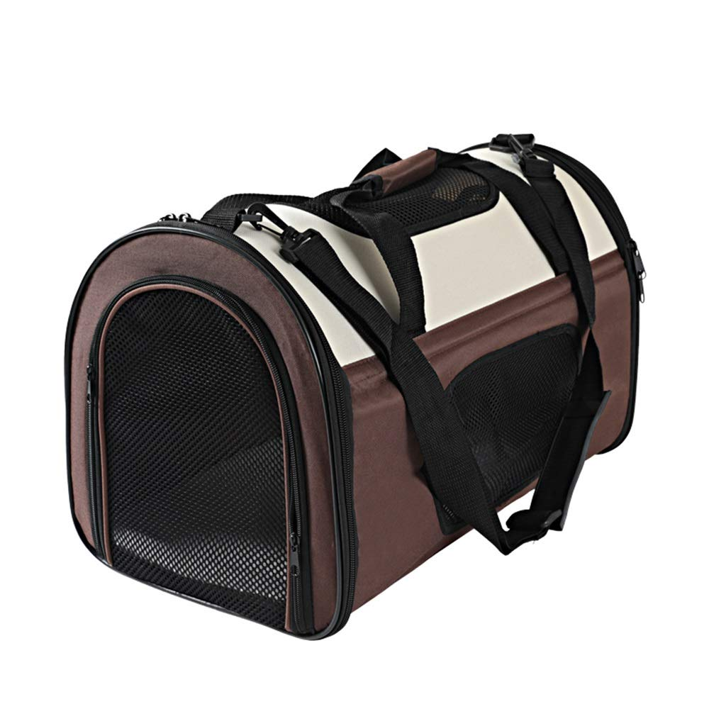 Brown SPet Backpack Outgoing Carrying Case Shoulder Bags Handbag Dog Bags Cat Cage (color   Red, Size   M)