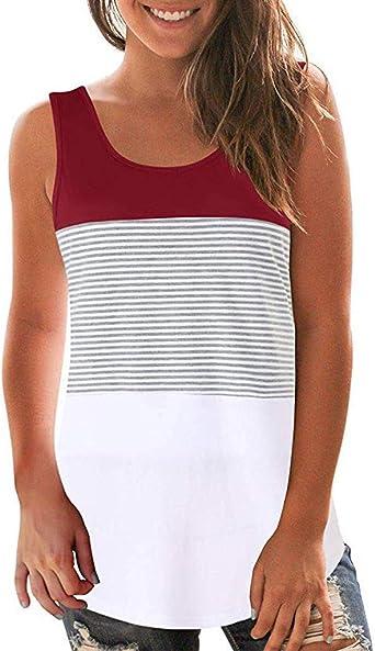 Chaleco de Mujer Sexy Halter sin Mangas Boho Camisola Tops Casual Camisa de Verano Camiseta Mujer Básica Top Mujer de Chalecos T-Shirt Camisas Blusas: Amazon.es: Relojes