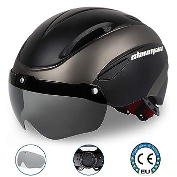KINGLEAD Casco Bicicleta con Visera, Protección de Seguridad Ajustable Casco de Bicicleta Ligera para Montar en Bicicleta Casco de Bicicleta BMX ...