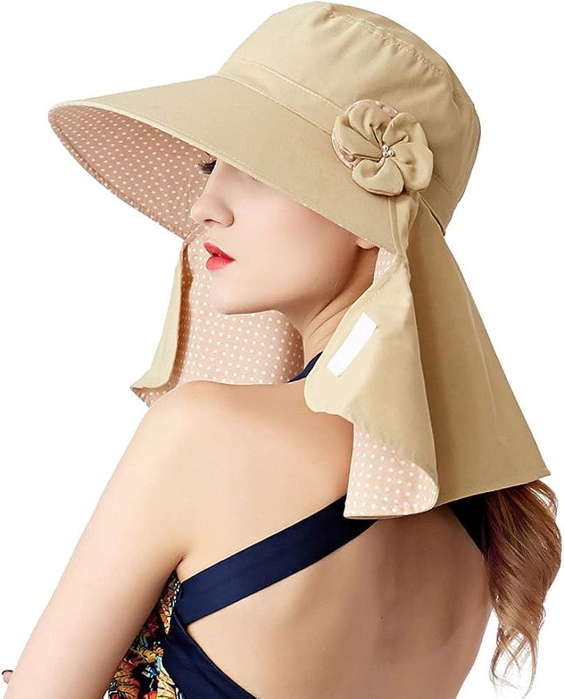 Yimidear/® Faltbare Sommer Sonnenhut Weiblicher Hut Baseball Kappe Frauen Anti-UV Hut
