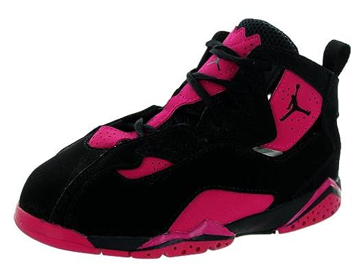 Nike Jordan Kids Jordan True Flight Gt Black/Black/Sport Fuchsia Basketball  Shoe 9