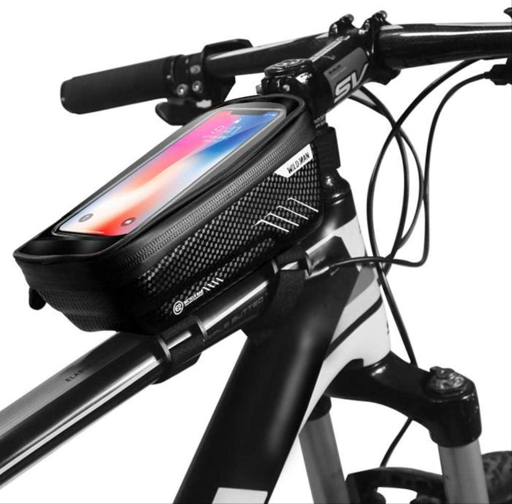 Bicycle Frame Bag Waterproof Cycling Top Tube Bike Bag Touchscreen Bike Pouch Bag etc Smartphone up to 6.5 DHR Bike Handlebar Bag