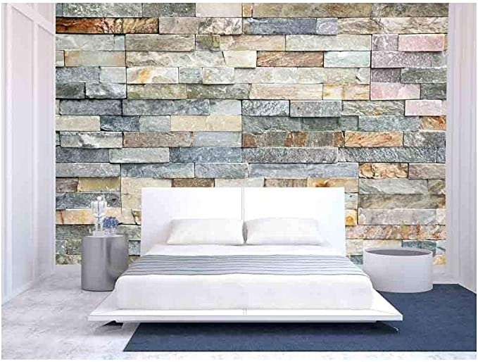 wall26 - Decorative Tiles Made from Natural Granite Stone - Removable Wall Mural | Self-Adhesive Large Wallpaper - 66x96 inches - - Amazon.com