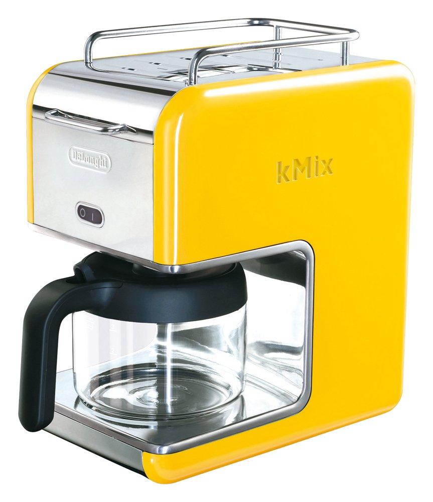 DeLonghi kMix cable mix boutique drip coffee maker yellow for 6 cups CMB6