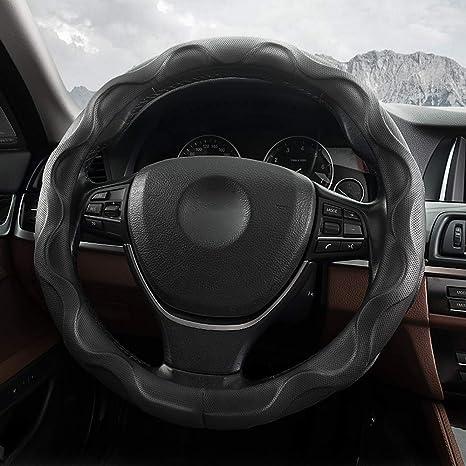 Amazon.com: QUEES - Funda universal para volante de coche ...