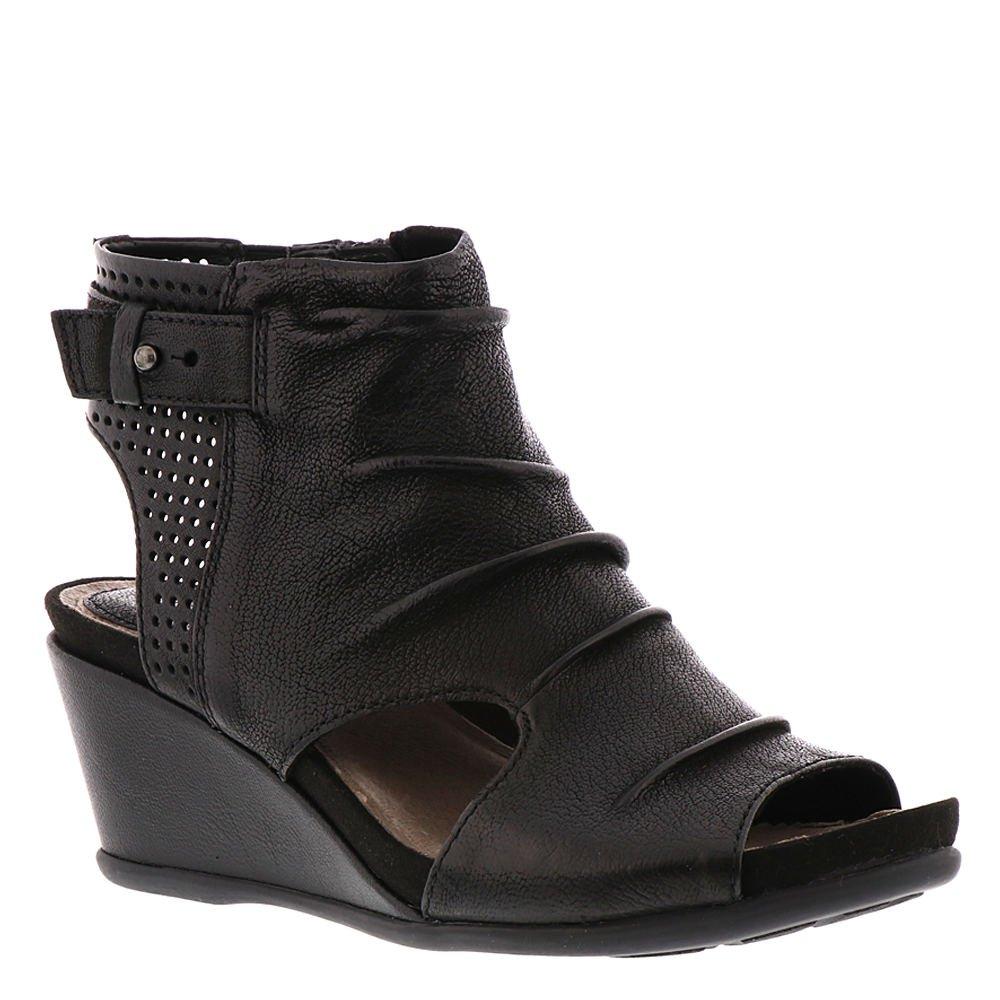 Earth Womens Sweetpea Black Tumbled Leather Sandal - 8