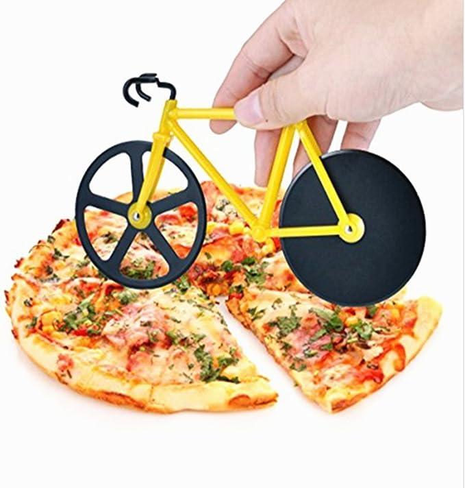 Cortador de pizza rueda de bicicleta, utensilio de cocina de acero ...
