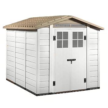 Abri De Jardin Pvc Beige Sol Box Porte Outils De Jardin Exterieur