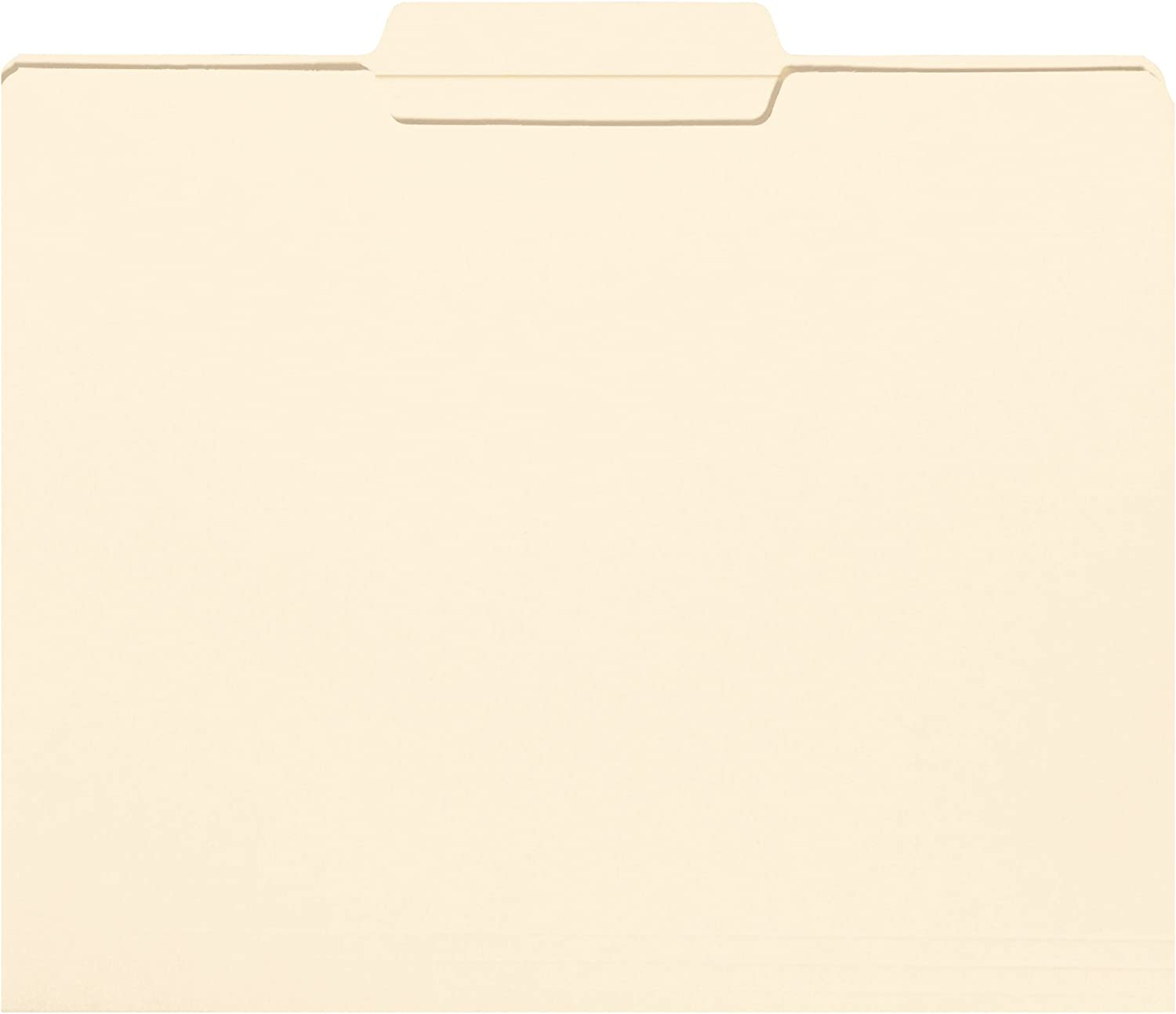 Smead File Folder, Reinforced 1/3-Cut Tab Center Position, Letter Size, Manila, 100 Per Box (10336)