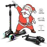 Amazon.com: BELEEV Patinete plegable para niños, 2 ruedas ...