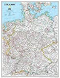 National Geographic: Germany Classic Wall Map - Laminated (23.5 x 30.25 inches) (National Geographic Reference Map)