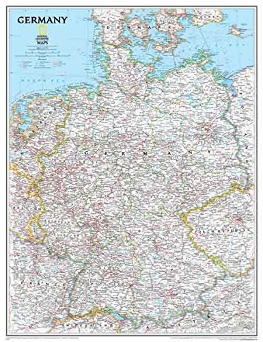 National Geographic: Germany Classic Wall Map - Laminated (23.5 x 30.25 inches) (National Geographic Reference Map) by National Geographic