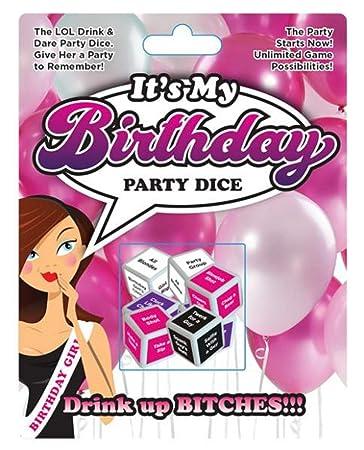 Amazon.com: Juego de dados para fiesta de cumpleaños «Its ...