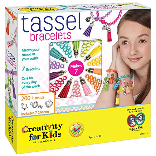 Creativity for Kids Tassel Bracelets Jewelry Kit - Makes 7 Bracelets