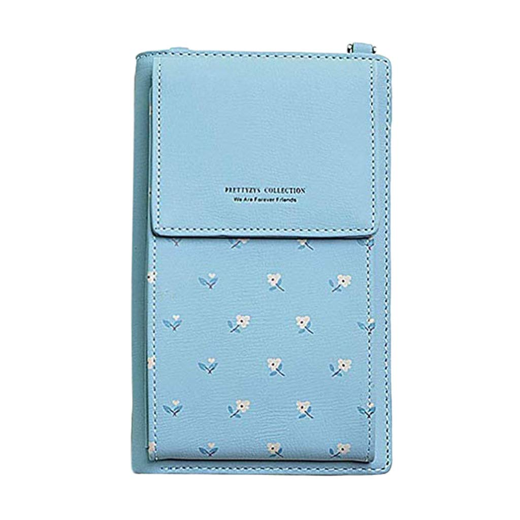 Women Wallet Cross Body Leather Purse Cell Phone Mini Pouch Shoulder Wallet Bag datework