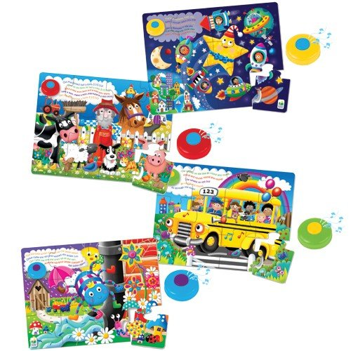 - Constructive Playthings LRJ-4 Nursery Rhyme Musical Floor Puzzles (Set of 4)