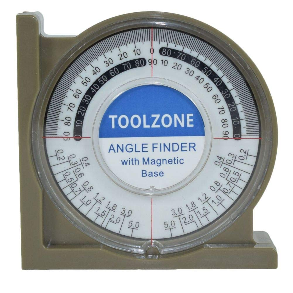 Magnetic Base Angle Finder Measure Spirit Level Gauge Roofer Builders Plumbers by Tao tao family