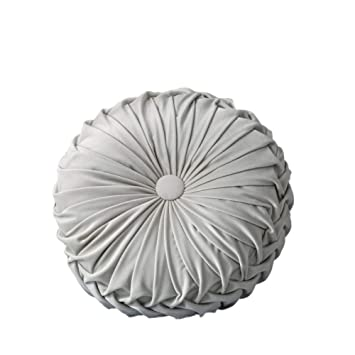 Amazon.com: Jlong Handcrafted Pumpkin Round Pillow Velvet ...