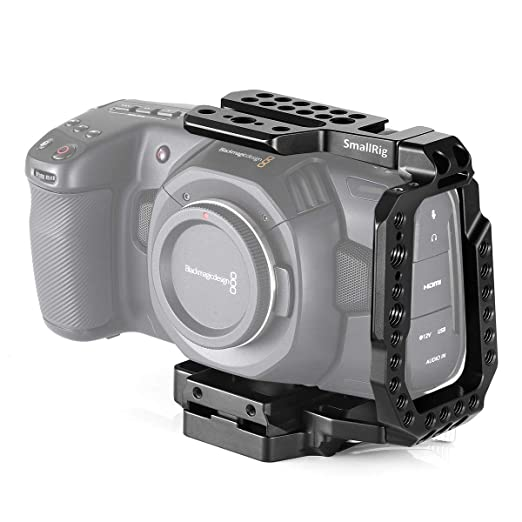 SMALLRIG BMPCC 4K, 6K Lanzamiento Rápido Media Jaula Compatible ...