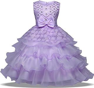 ADHS Girls Tutu Dress Girls Ruffles Dresses Flower Girl Dress Prom Gowns