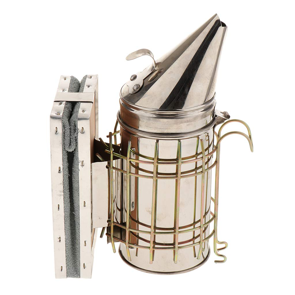 F Fityle Beekeeping Large Hive Smoker stainless Bee Hive Smoker Large 10inch