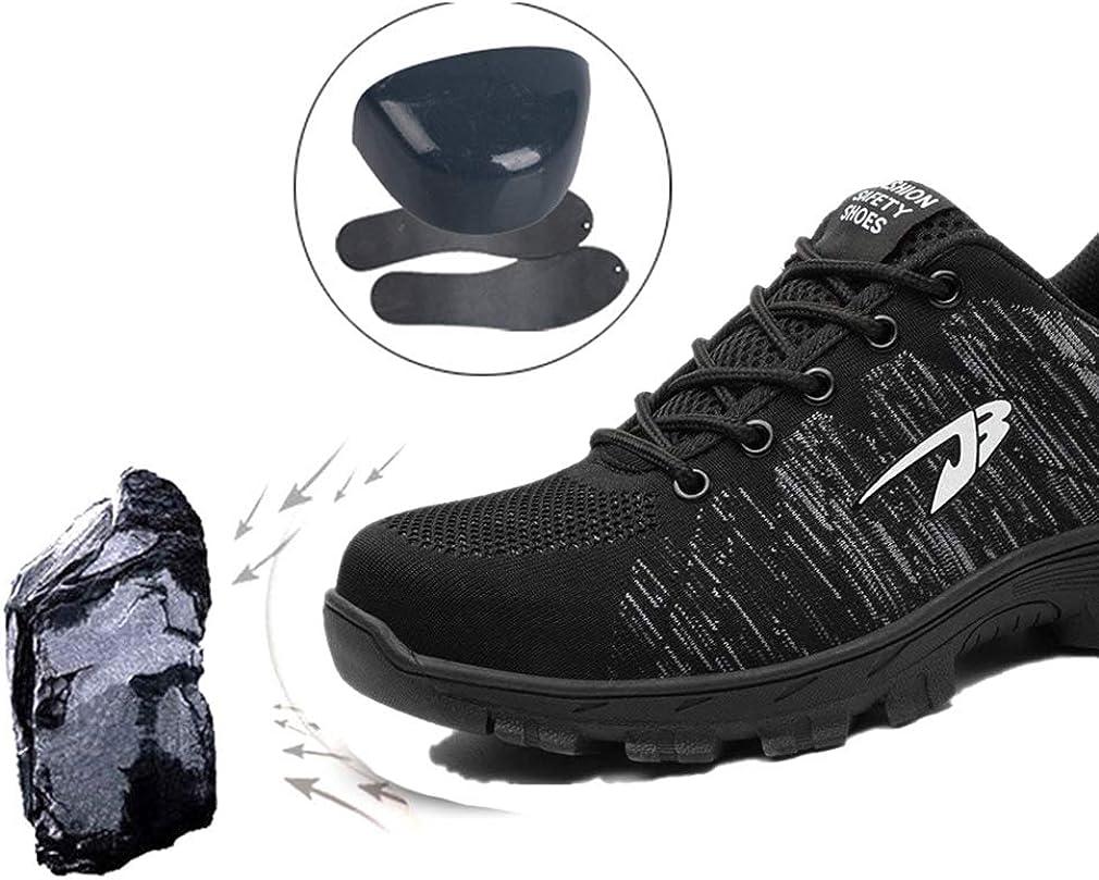 yunhou Homme Femme Chaussure de S/écurit/é Embout de Protection en Acier Semelle de Protection Anti-Perforation Acier Chaussures de S/écurit/é