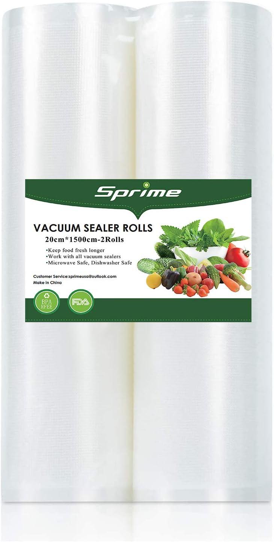 Vacuum Sealer Bags 2 Rolls 8