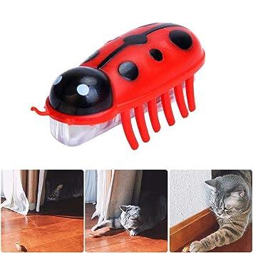 LayOPO Robótico Juguete para Gato, Masticador de Gato eléctrico, Juguete dispensador de Agilidad, Juguetes de Peluca, Movimiento de Mascota, Juguete para ...