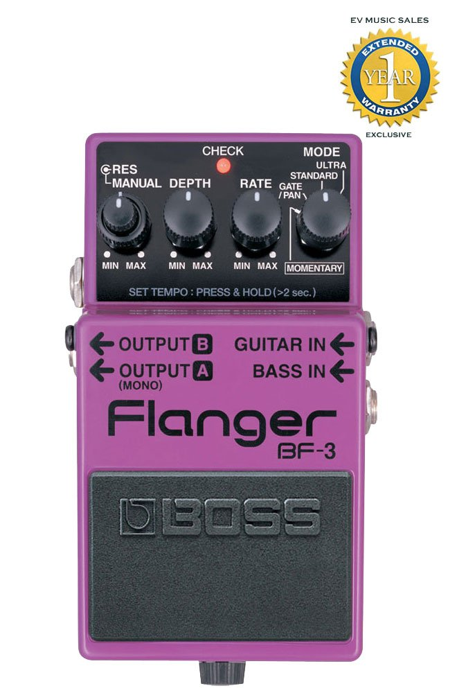 Boss BF-3 Flanger Pedal with 1 Year Free Extended Warranty