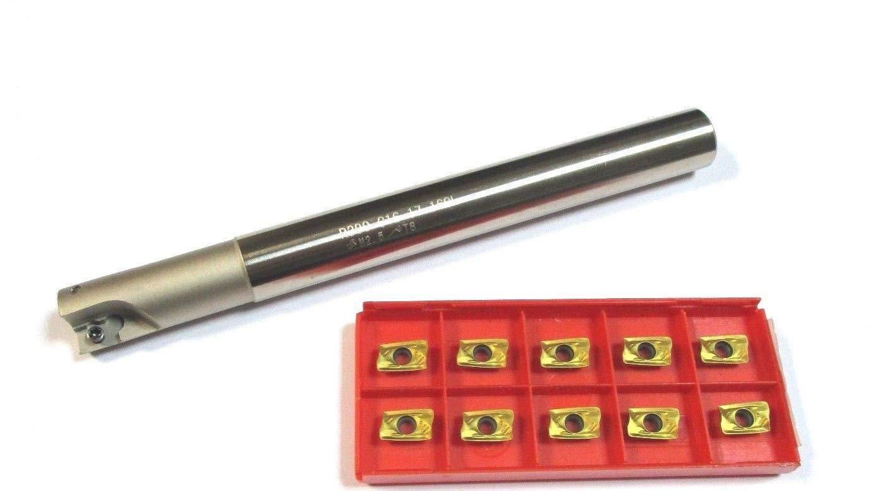 CNC R390-C20-20-160 Fraise à bois avec 10 plaques réversibles R390 11T3 Ø 20 mm