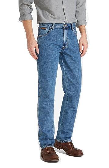 527d78ce Wrangler Texas Regular Fit Tailored Mens Jeans - Stonewash: Amazon.co.uk:  Clothing
