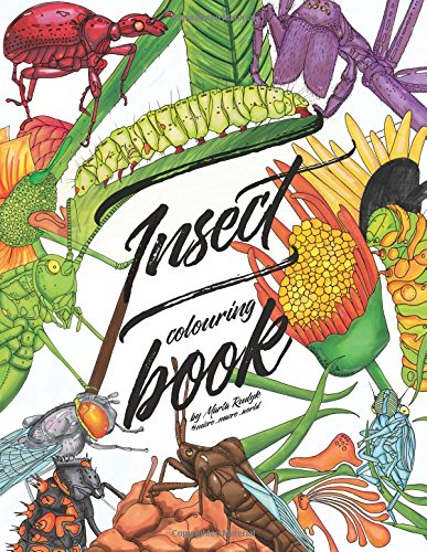 Insect colouring book colouring book for adults teens and kids girls and boys
