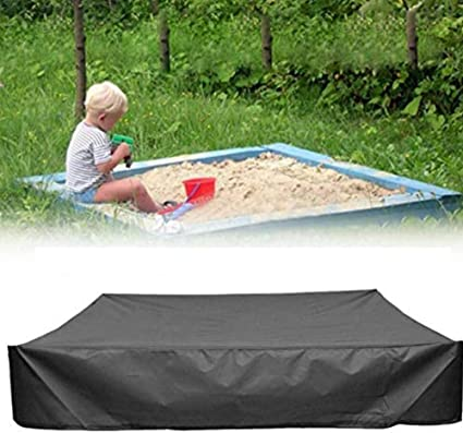 120x120cm DGHAO Sandbox Cover Tool Sandpit Oxford Cloth Farm Shelter Canopy All-Purpose Protective Accessories Square Dustproof Waterproof with Drawstring Garden