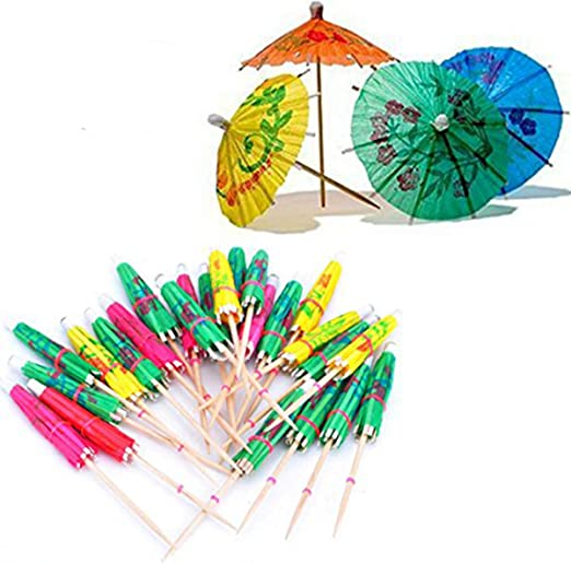 144 MINI DRINK UMBRELLAS garnish cocktails drinks decor glass umbrella small