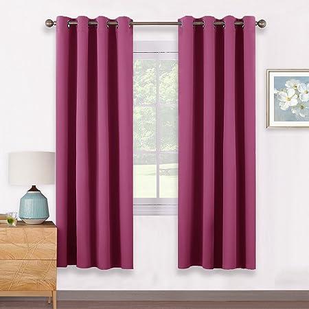 PONYDANCE Eyelet Thermal Blackout Curtains Panels Premium Thermal ...