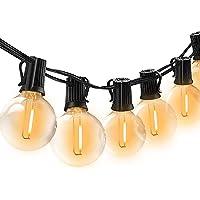 BRTLX Guirnalda Exterior Luminosas,18.3ft G40 Cadena de Luces LED con 12 Bombillas(2 Bomnillas de Reemplazo) Perfecto…