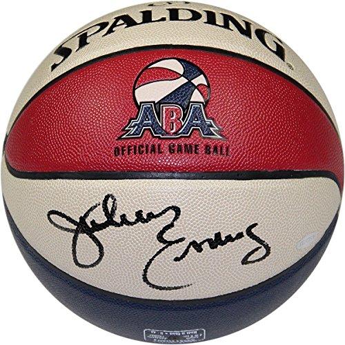 Erving Hand Signed - JULIUS ERVING Hand Signed Official ABA Basketball STEINER