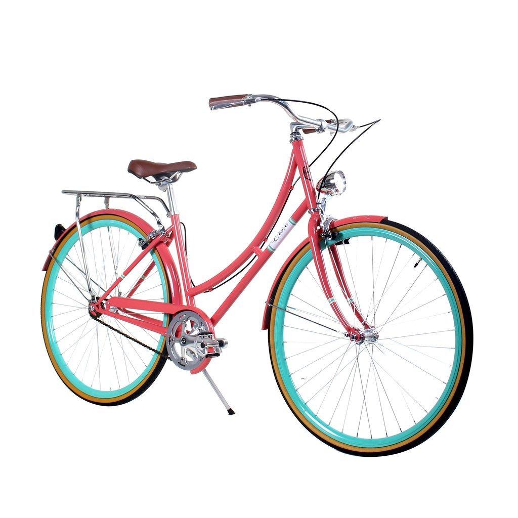 Zycle Fix 44 cmバイク固定ギアレディースシビックシリーズ自転車 – サーモン B01NCX0IDI