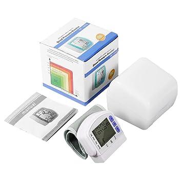 hehilark – Tensiómetro, Digital LCD Automático muñeca medida de la presión arterial Monitor de Pulso