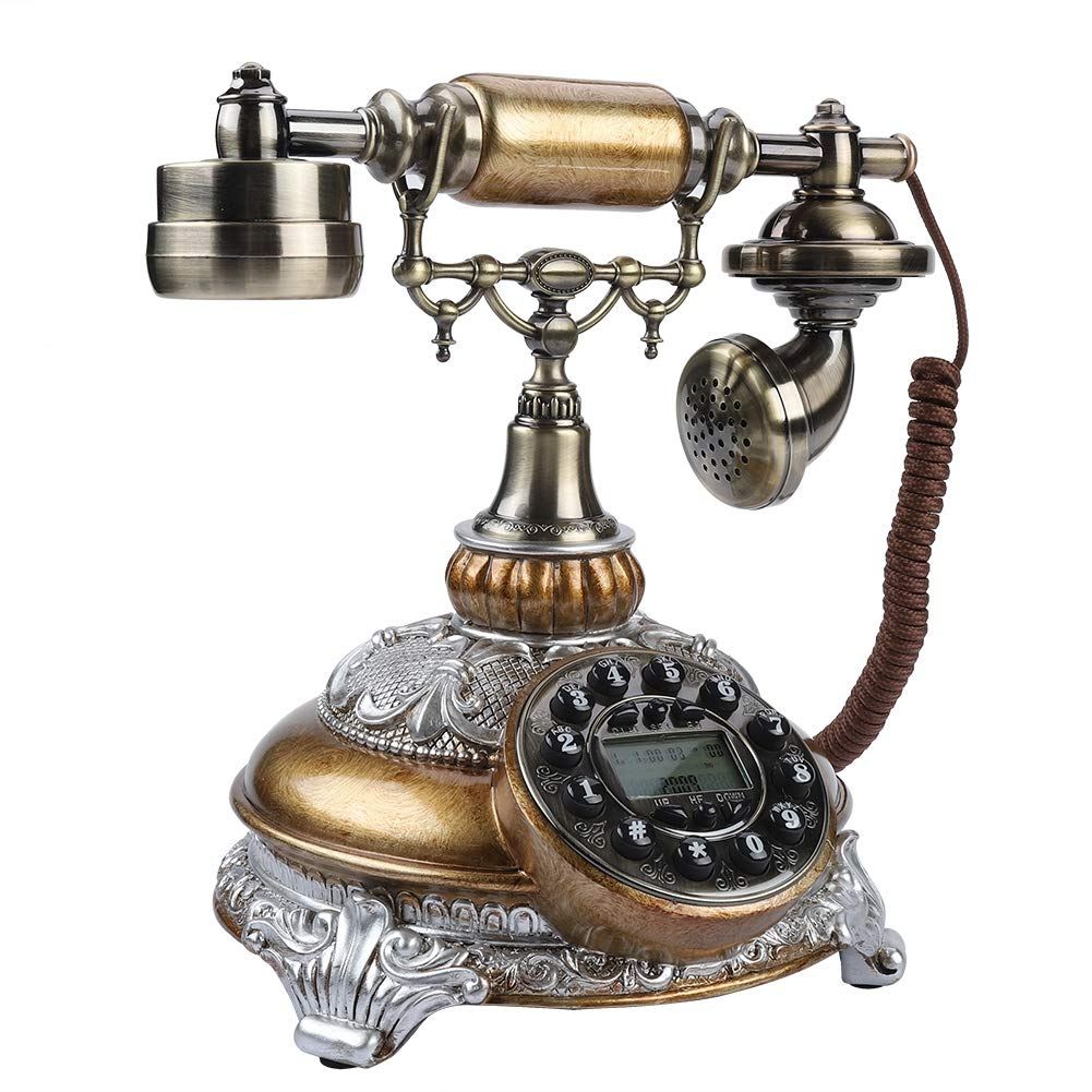 Classic Retro Vintage Telephone Rotary Dial Antique Landline FSK/DTMF Office Home Auto IP Function Zerone