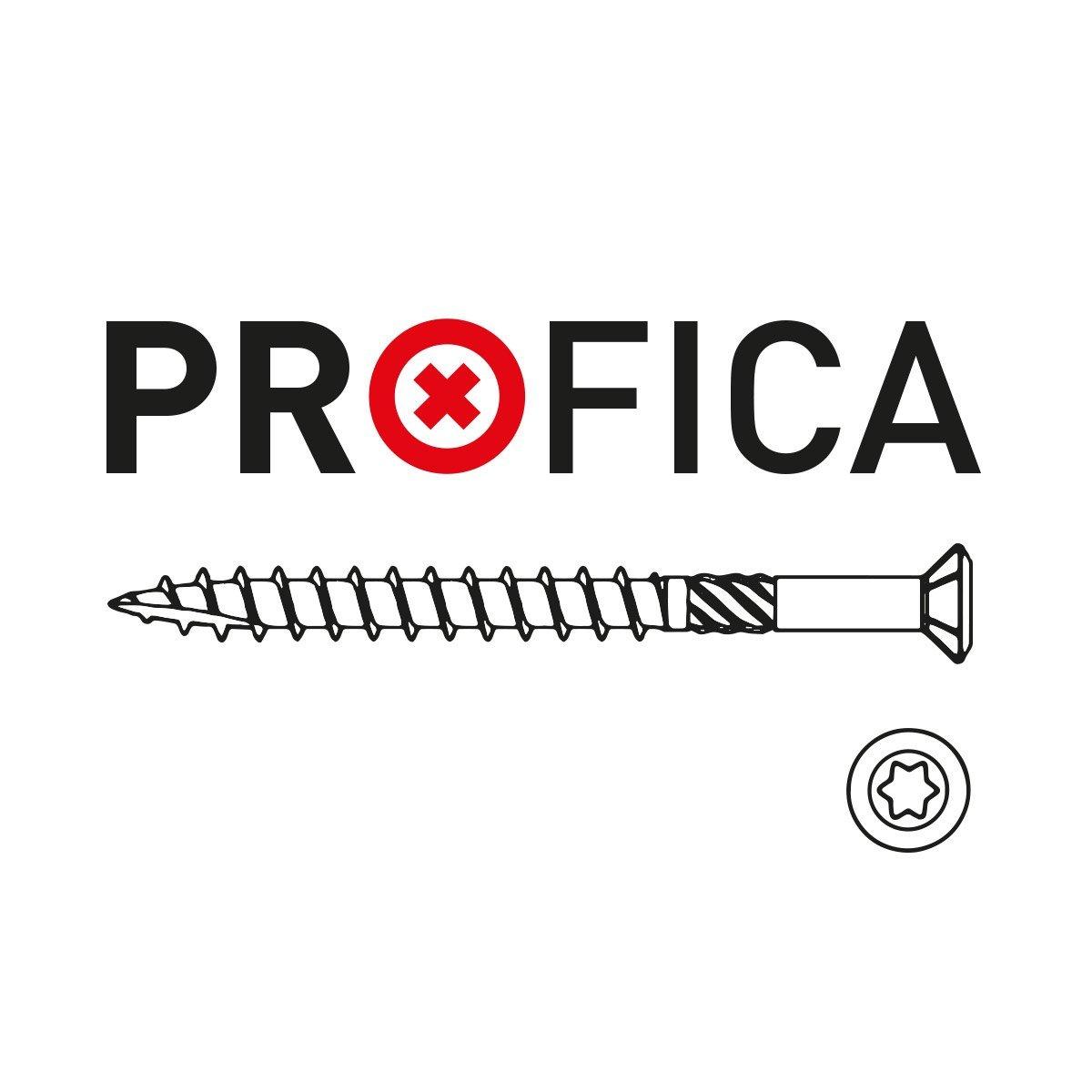 Terrassenschrauben Edelstahl C1 5x60mm inkl 100 PROFICA PROFICA Edelstahl Bit Torx 25 VA