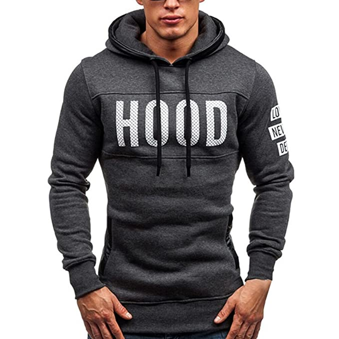 TWBB Sweatshirt Herren, Mode Winter Schlank Hoodie Briefmantel Warm  Pullover Sweatshirt Mit Kapuze Mantel Outwear Tops: Amazon.de: Bekleidung