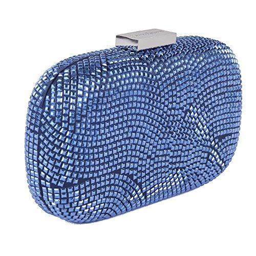 Sac d'embrayage, Nives Bleu, tissu
