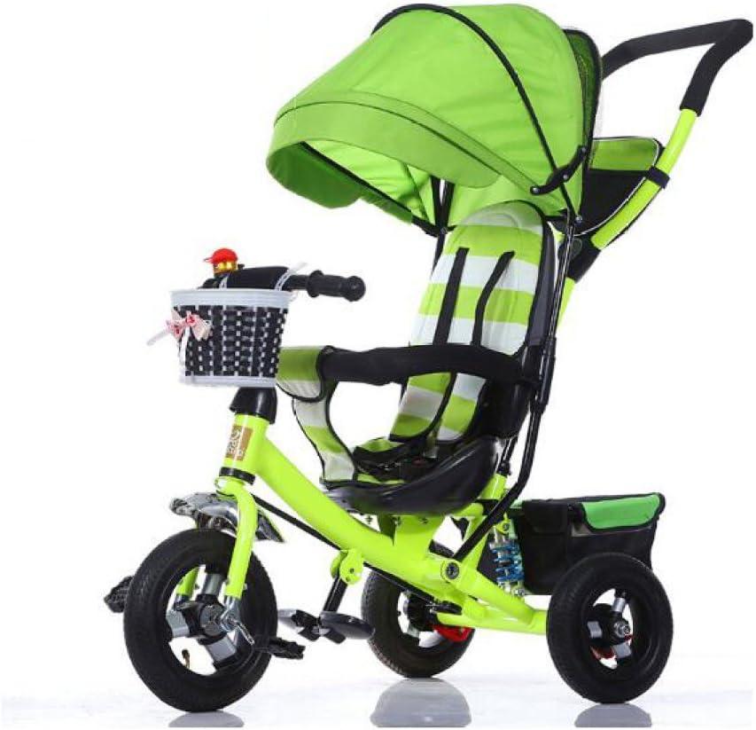 PGYCTBLF Sillita Triciclo Infantil Plegable Bebé Sillita De Paseo Infantil 1-3-5 Años Bicicleta Niño Cochecito De Bebé,B