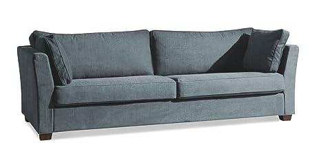 Sofá 3-asiento de la Sama en un resistente de terciopelo ...
