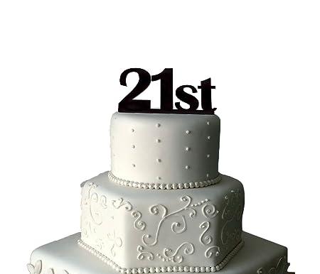 Decoración para tarta para 21 cumpleaños para 21º cumpleaños ...
