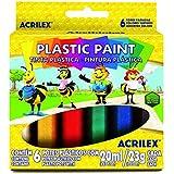 Tinta Plástica Plasticpaint C/6 Cores 20ML - Acrilex