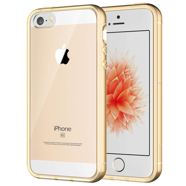 JETech 0426- Case for iPhone SE, iPhone 5s, iPhone 5, Shock-Absorption Bumper Cover, Anti-Scratch Clear Back, HD Clear FBA_0426-CS-BUMPER-I5-HD