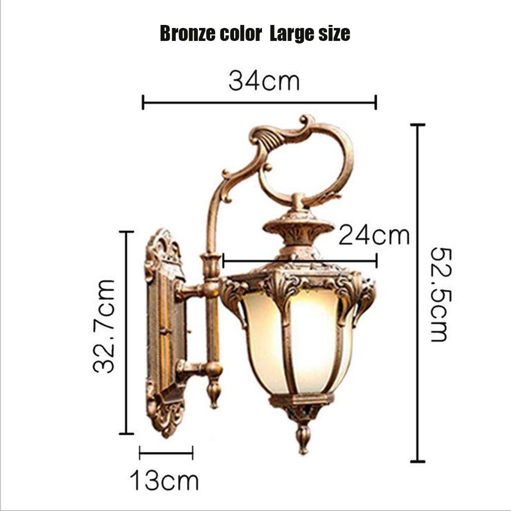 ヨーロッパの防水の風景のライトレトロガーデンライトベッドルームのリビングルームの通路ライト屋外の濃いledライトe27,Bronzecolor,32.7X34X52.5CM B07DXRPG9C 21991